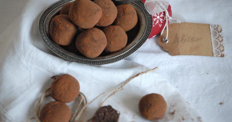 Tartufini di cioccolato e castagne
