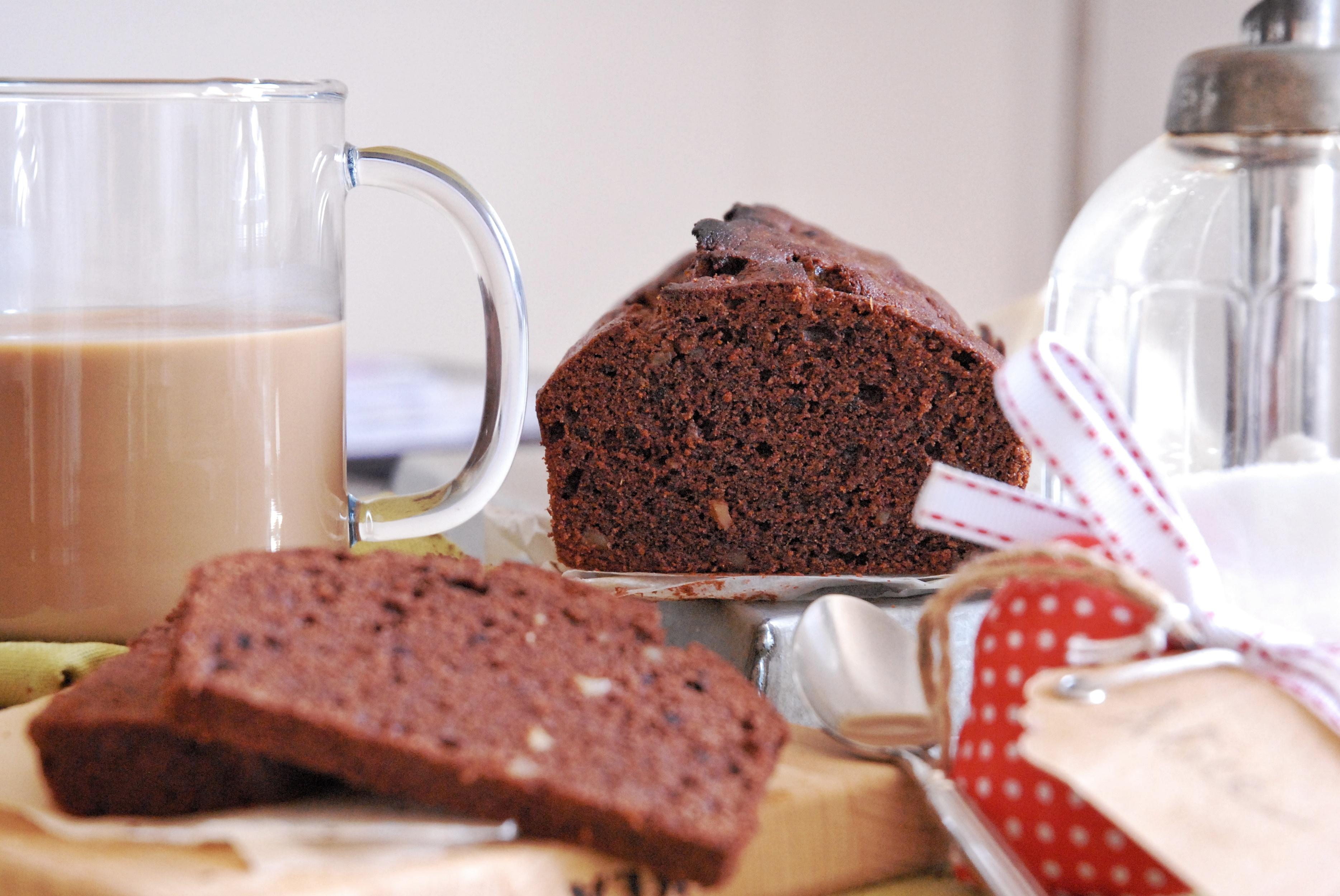 Plumcake al cioccolato con zenzero caramellato