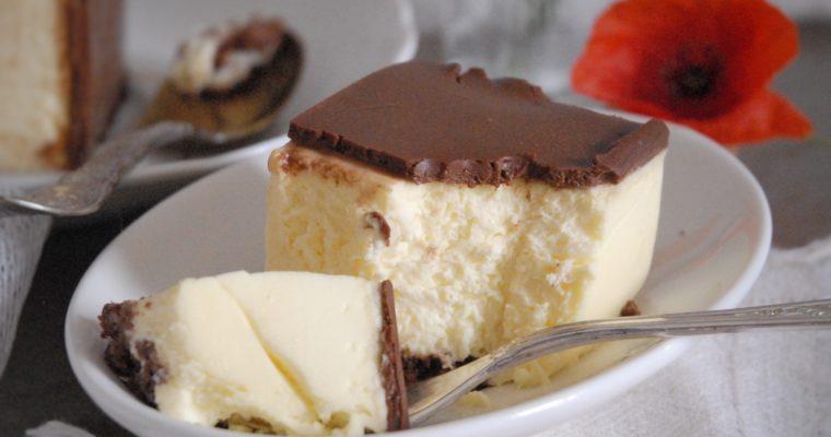 Cheesecake alla vaniglia e cioccolato fondente