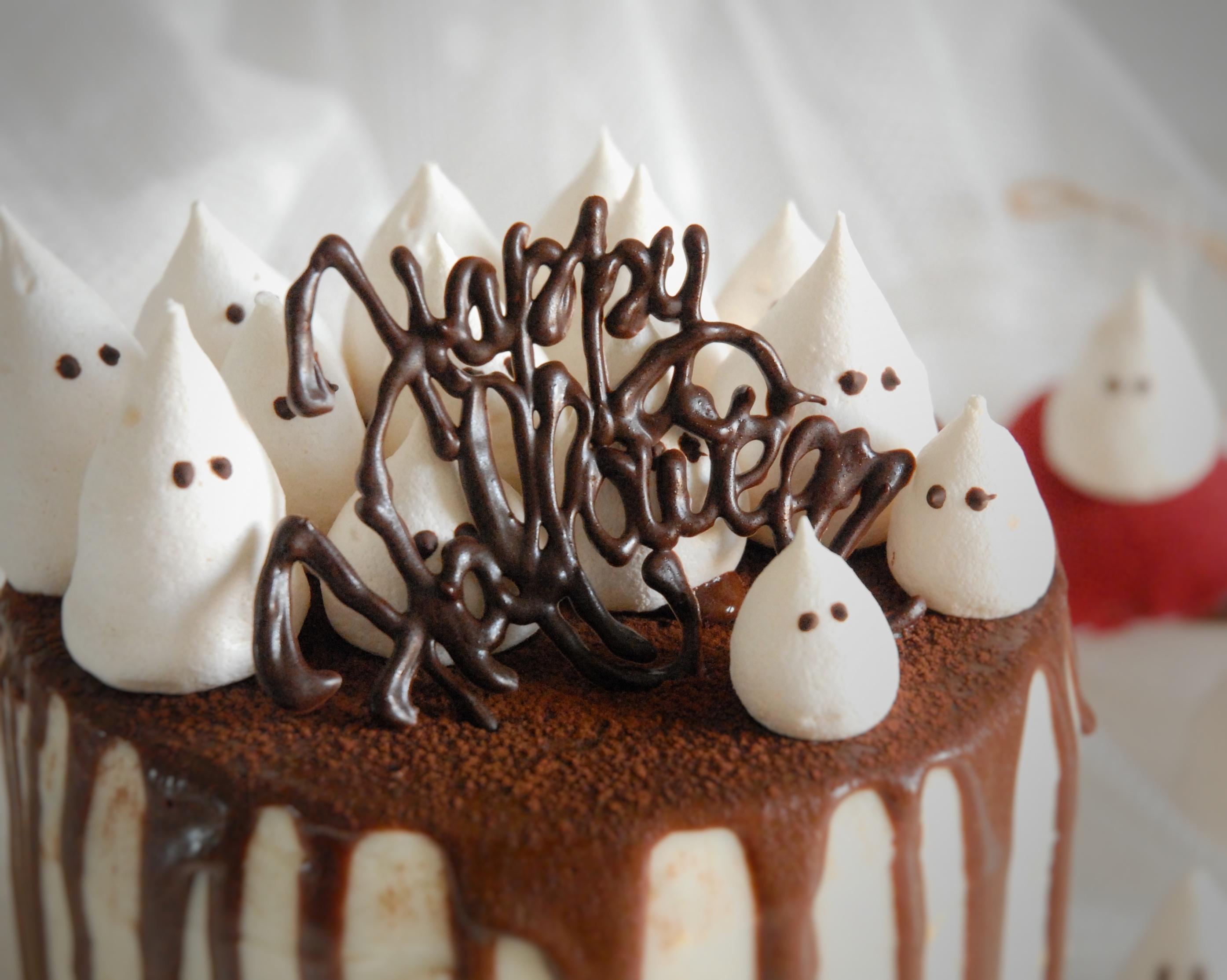 Torta di Halloween alla zucca e cioccolato