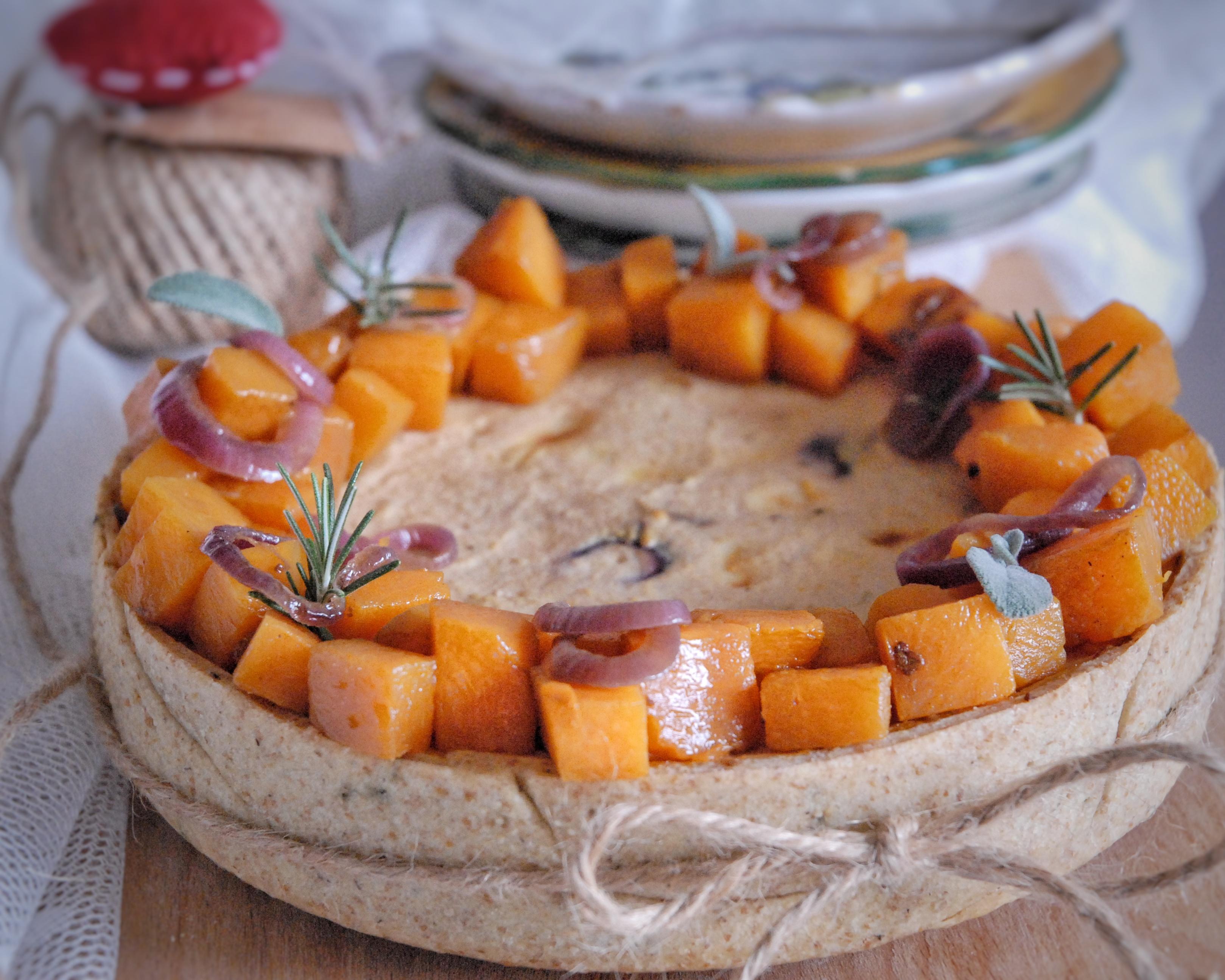 Crostata salata di zucca, ricotta e brie