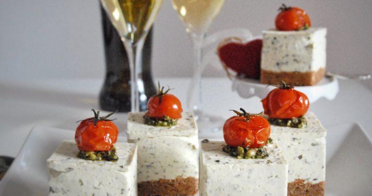 Cheesecake salate al pesto senza cottura