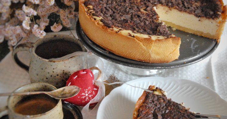 Crostata di ricotta, mascarpone e cioccolato