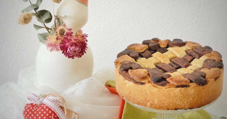 Crostata intrecciata di ricotta, semolino e cioccolato