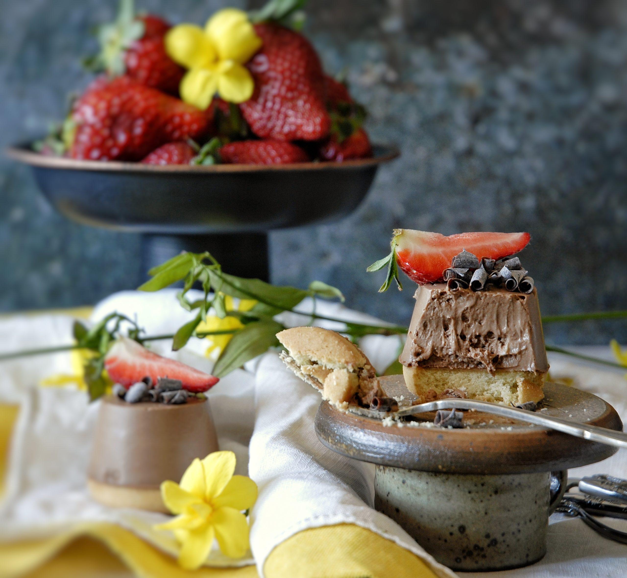 Mini cheesecake al cioccolato
