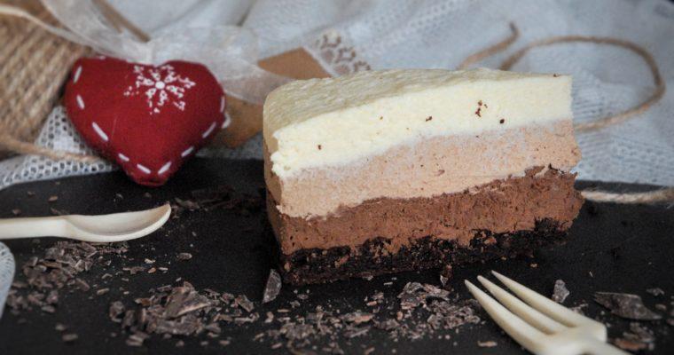 Mousse ai tre cioccolati (senza glutine!)