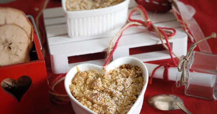 Crumble di strudel in coppetta