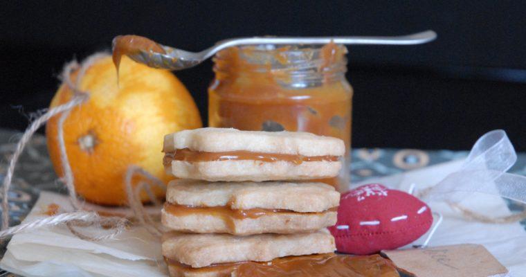 Shortbread all'arancia con caramello mou