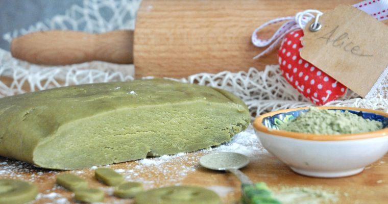 Pasta frolla al thè matcha