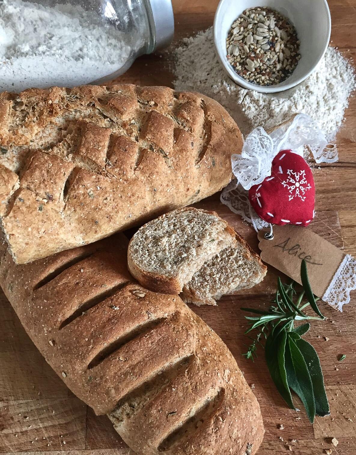 Pane integrale con lievito madre disidratato