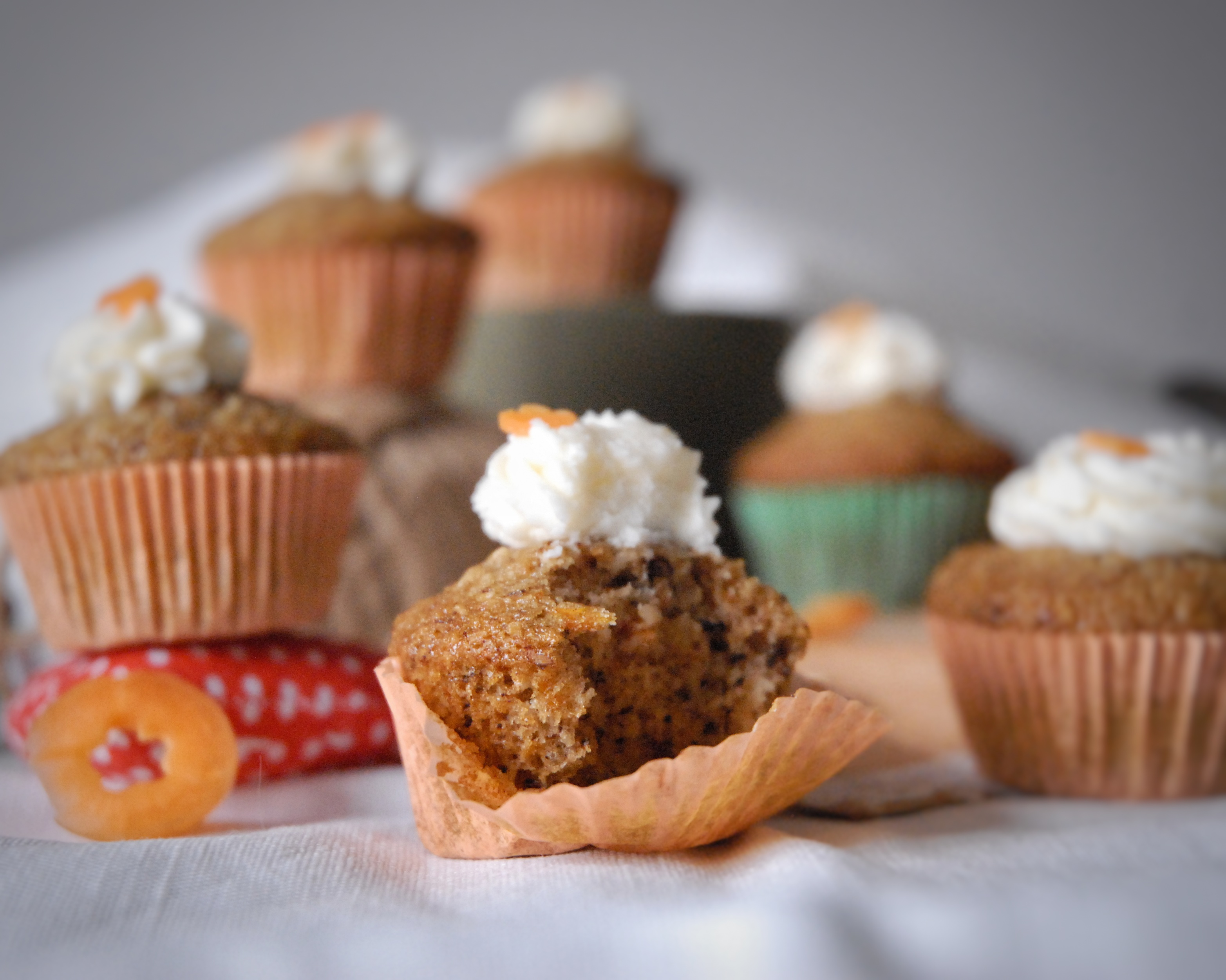 Carrot (cup)cakes con frosting al Philadelphia