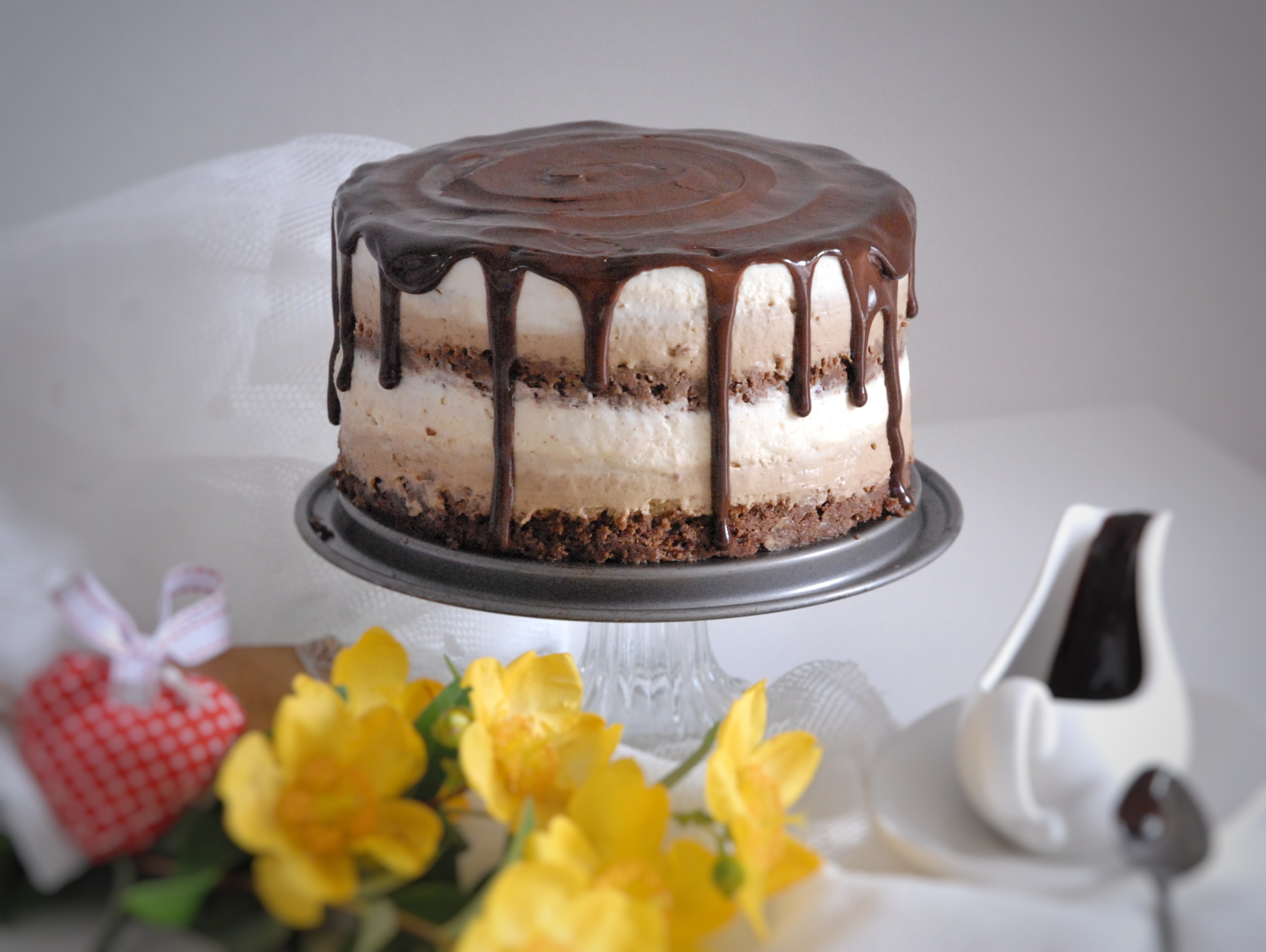 Torta Mokaccina caffè e cioccolato