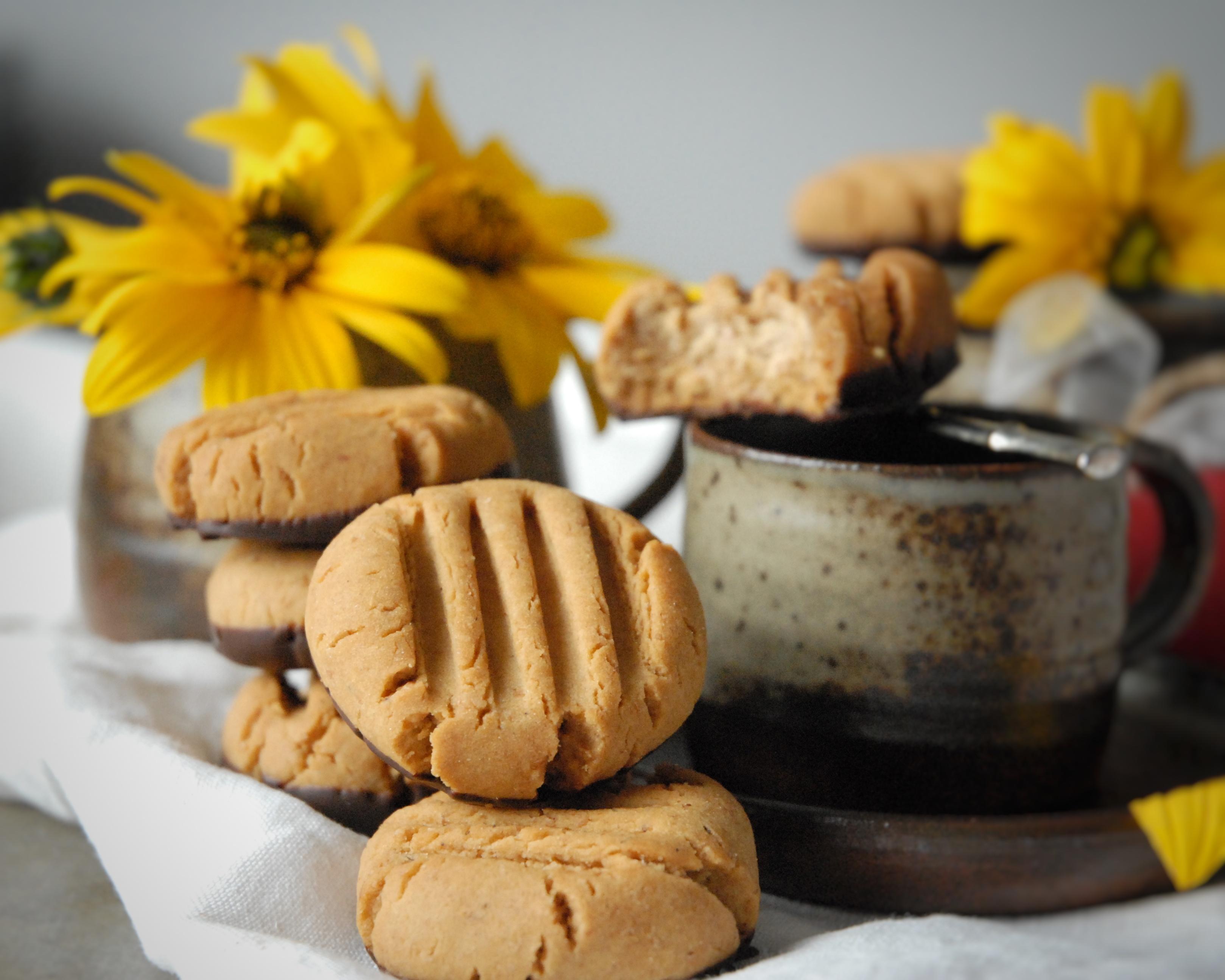 Biscotti semi-integrali al caramello di burro di arachidi
