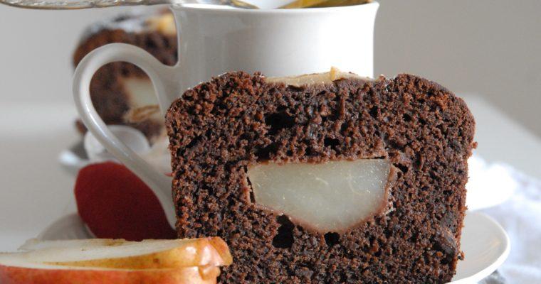 Plumcake cioccolato, pere e ricotta
