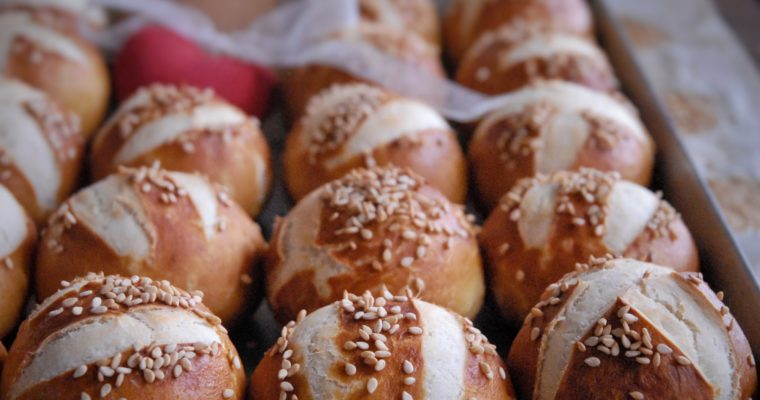 Pretzel buns ovvero laugenbrot