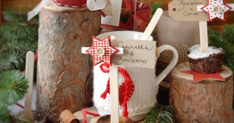 Cioccolata in tazza su stecco