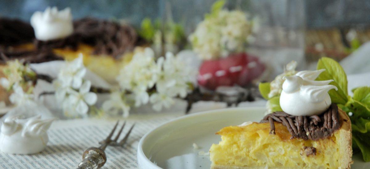 Torta di crema e riso