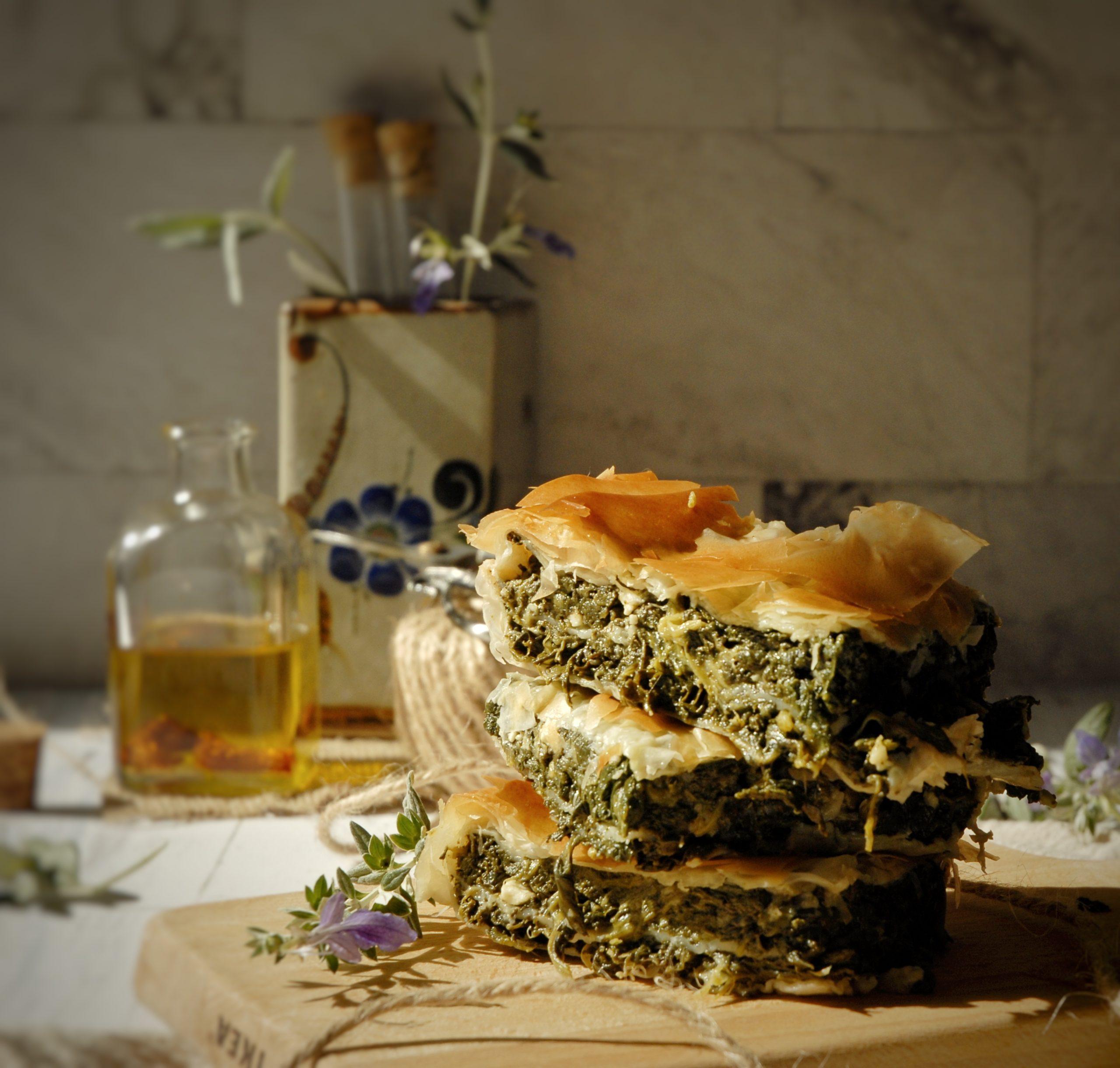 Spanakopita: torta di pasta phillo e spinaci