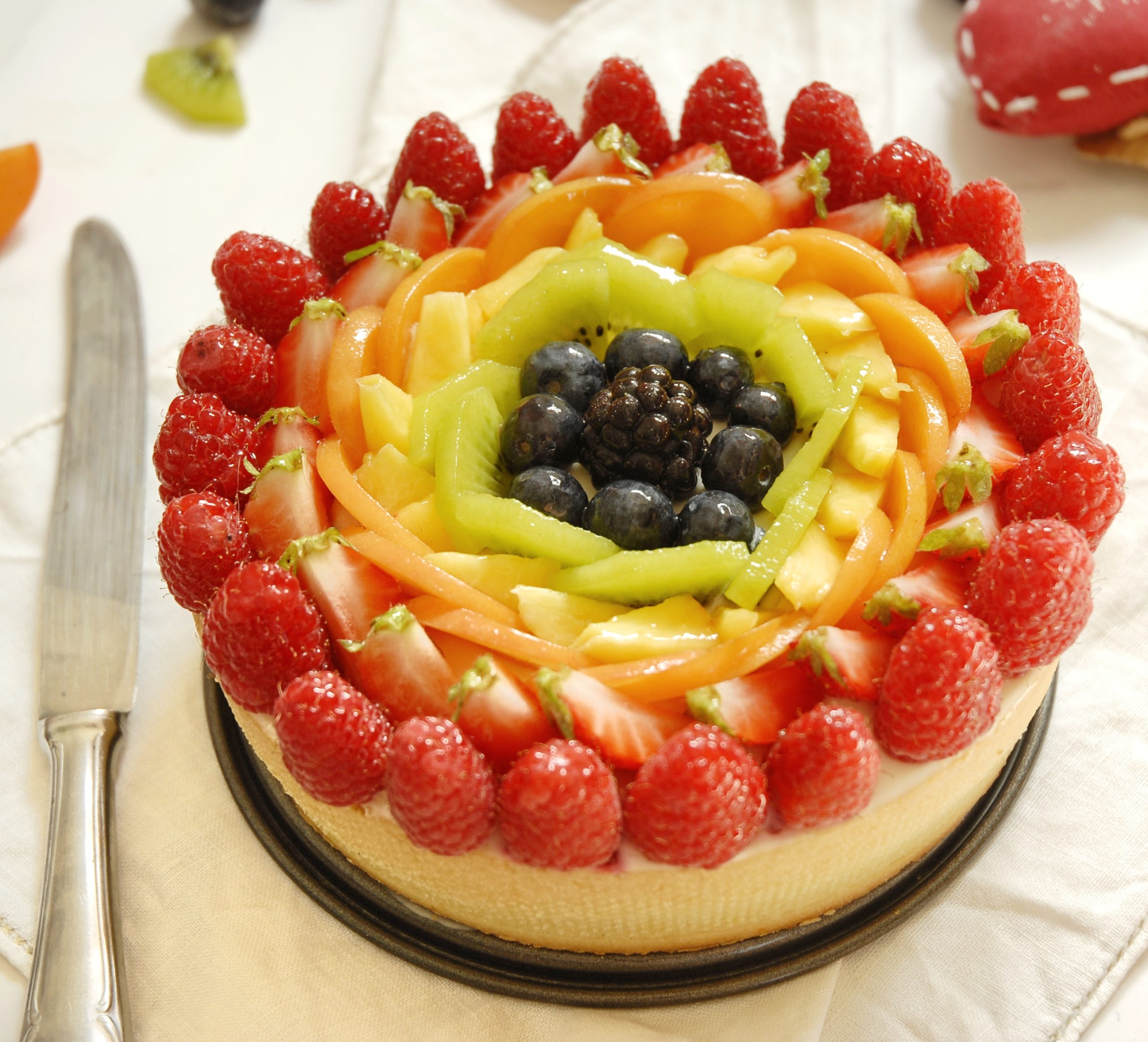 Crostata cheesecake arcobaleno