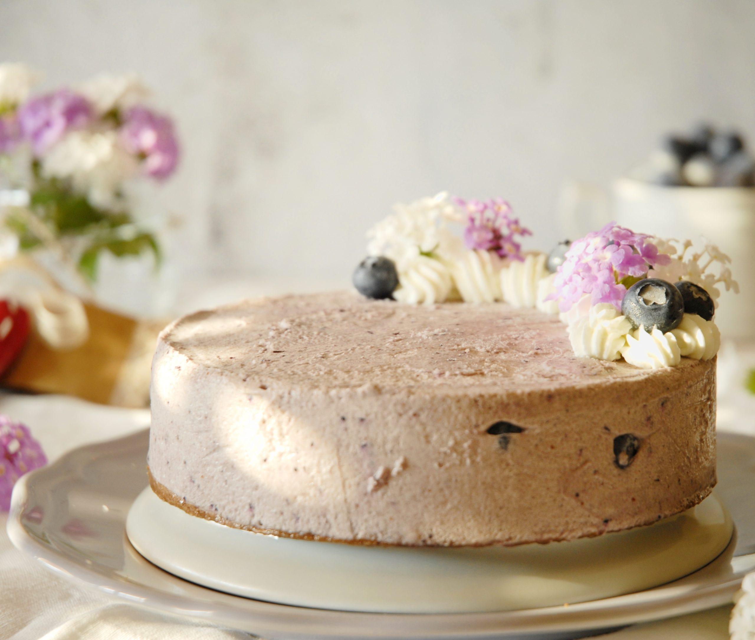 Torta mousse ai mirtilli