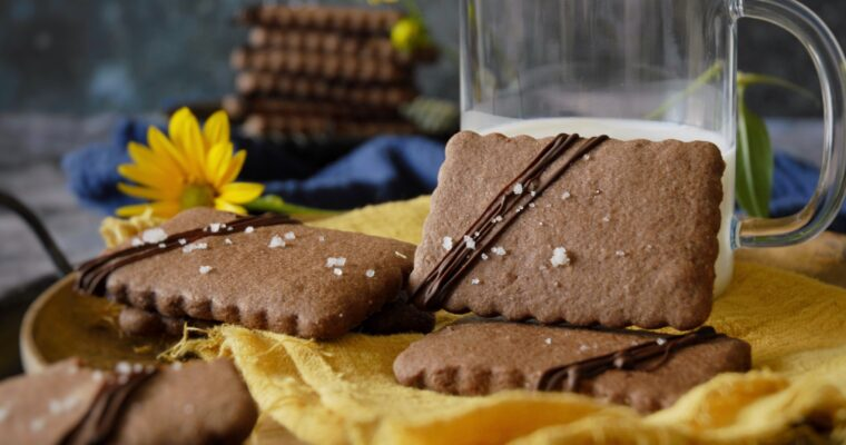 Sablé al cacao, nocciole e fior di sale