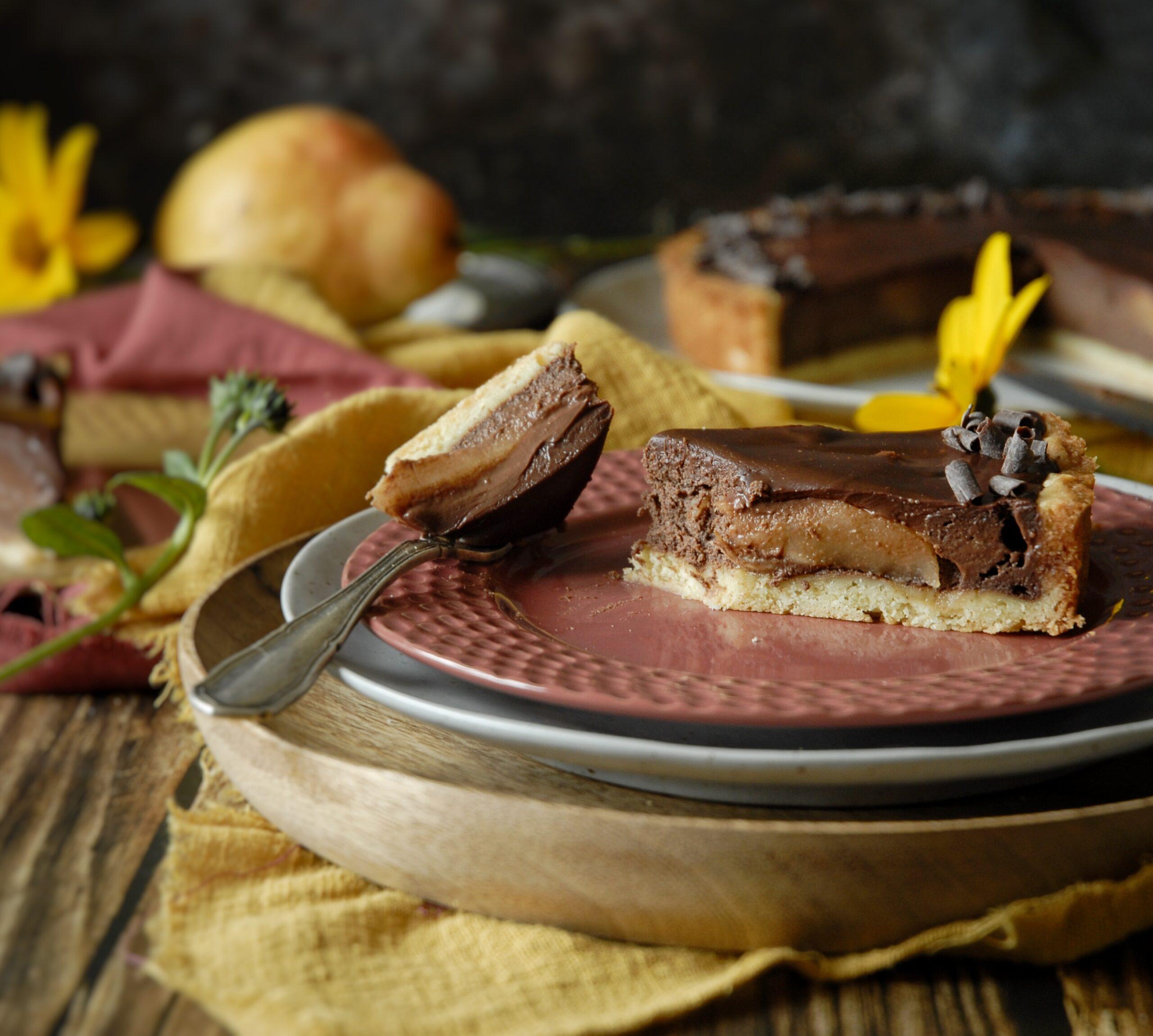 Crostata ricotta cioccolato e pere