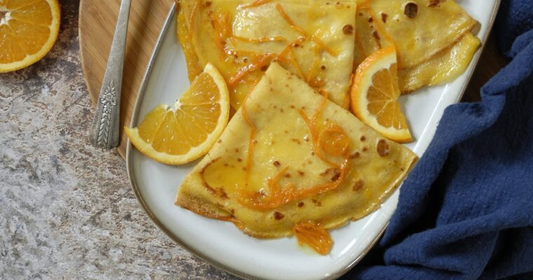 Crepes (quasi) Suzette all'arancia