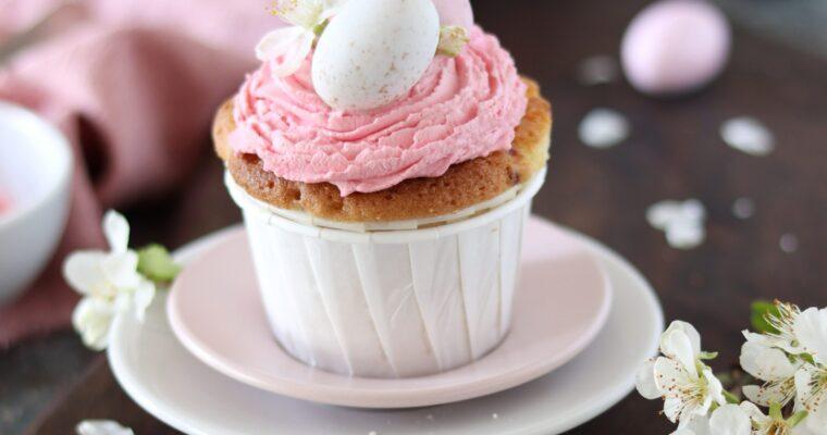 Cupcakes limone e lamponi di Pasqua