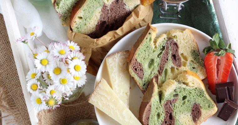 Pan brioche ai tre colori