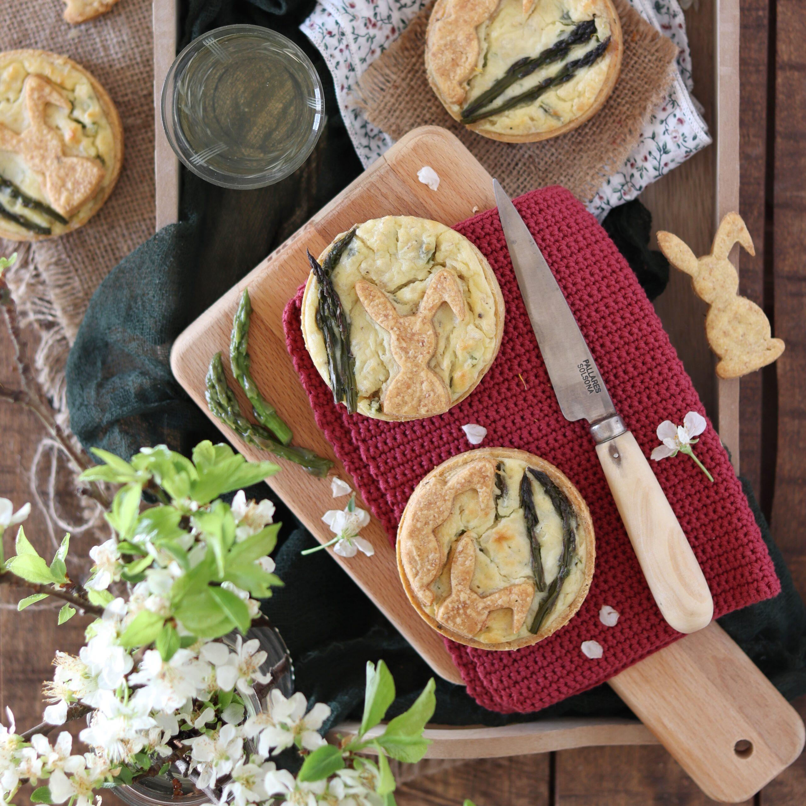Pastierine salate taleggio e asparagi