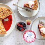 pie ai frutti rossi e yogurt gelato
