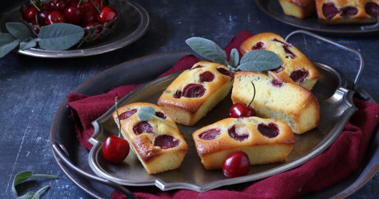 Plumcake ciliegie e salvia