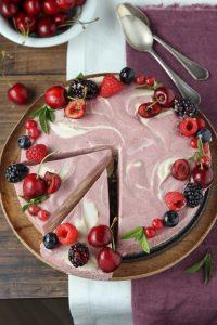 cheesecake esotica alla frutta e vaniglia