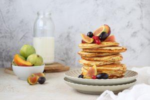 pancakes classici alla frutta