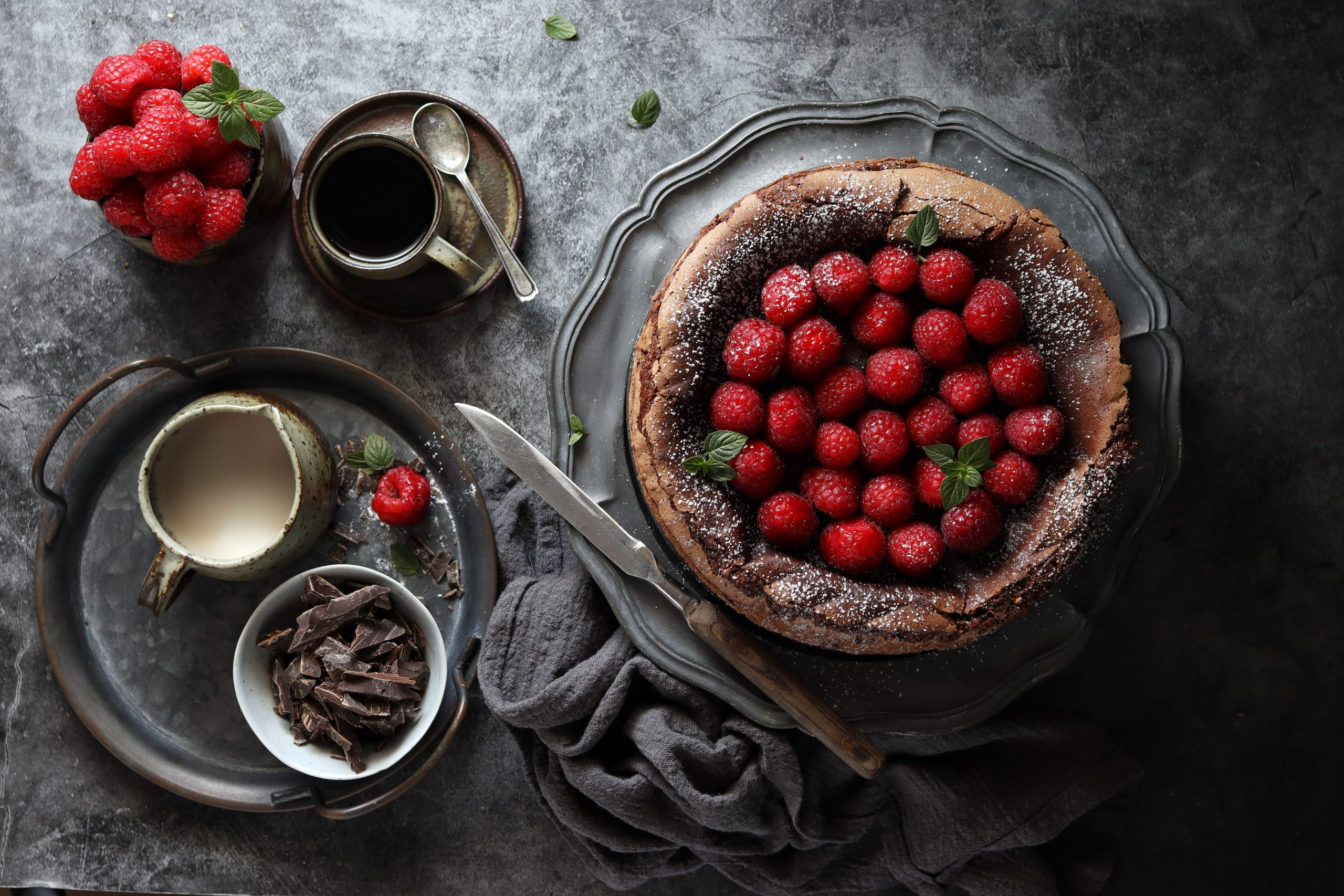 Torta al cioccolato e lamponi senza glutine