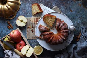 torta speziate di mele frullate